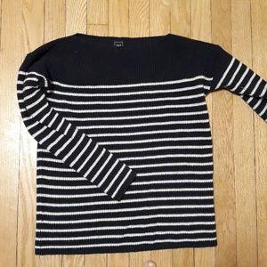 GAP boatneck striped cotton knit sweater
